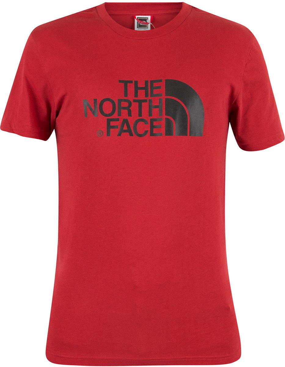 Футболка мужская The North Face M S/S Easy Tee, цвет: красный. T92TX3619. Размер XXL (52/54) панама the north face homestead br цвет мультиколор t92sbvrzx размер s m 56 57