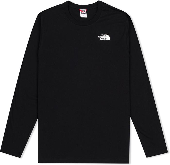 Лонгслив мужской The North Face M L/S Easy Tee, цвет: черный. T92TX1JK3. Размер L (48/50)T92TX1JK3Мужская футболка с длинными рукавами The North Face свободного кроя с круглым вырезом горловины и длинными рукавами изготовлена из натурального хлопка. На груди лонгслив декорирован контрастным принтом в виде логотипа бренда. Модель создана для тех, кто предпочитает комфорт, моду и оригинальность.
