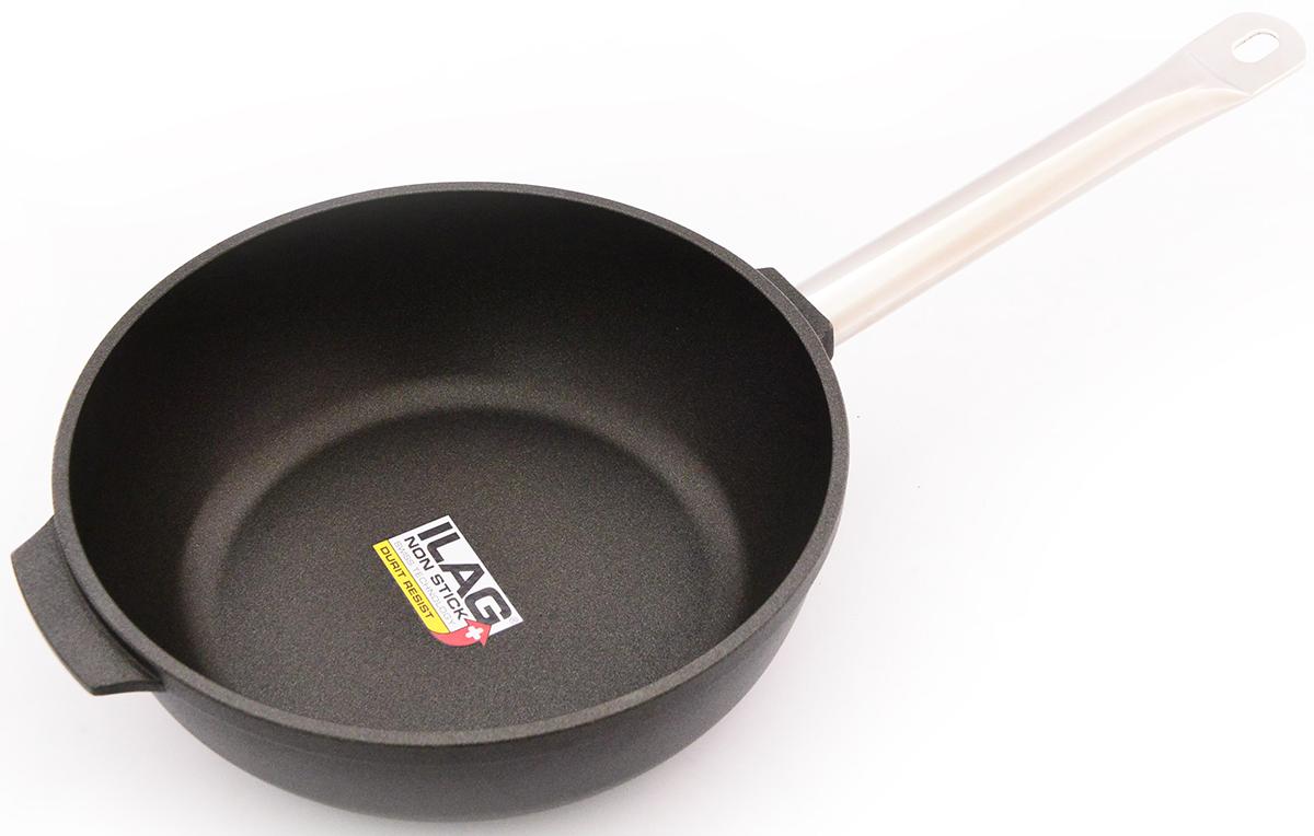 Сковорода Fissman Pro, глубокая, с антипригарным покрытием. Диаметр 28 смAL-4206.28