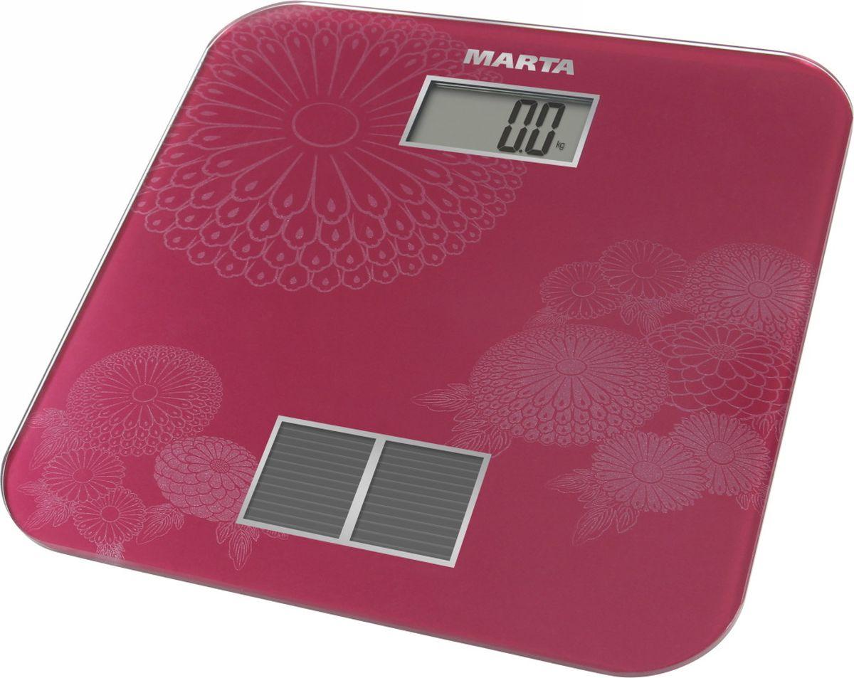Marta MT-1663, Burgundy весы напольные - Напольные весы