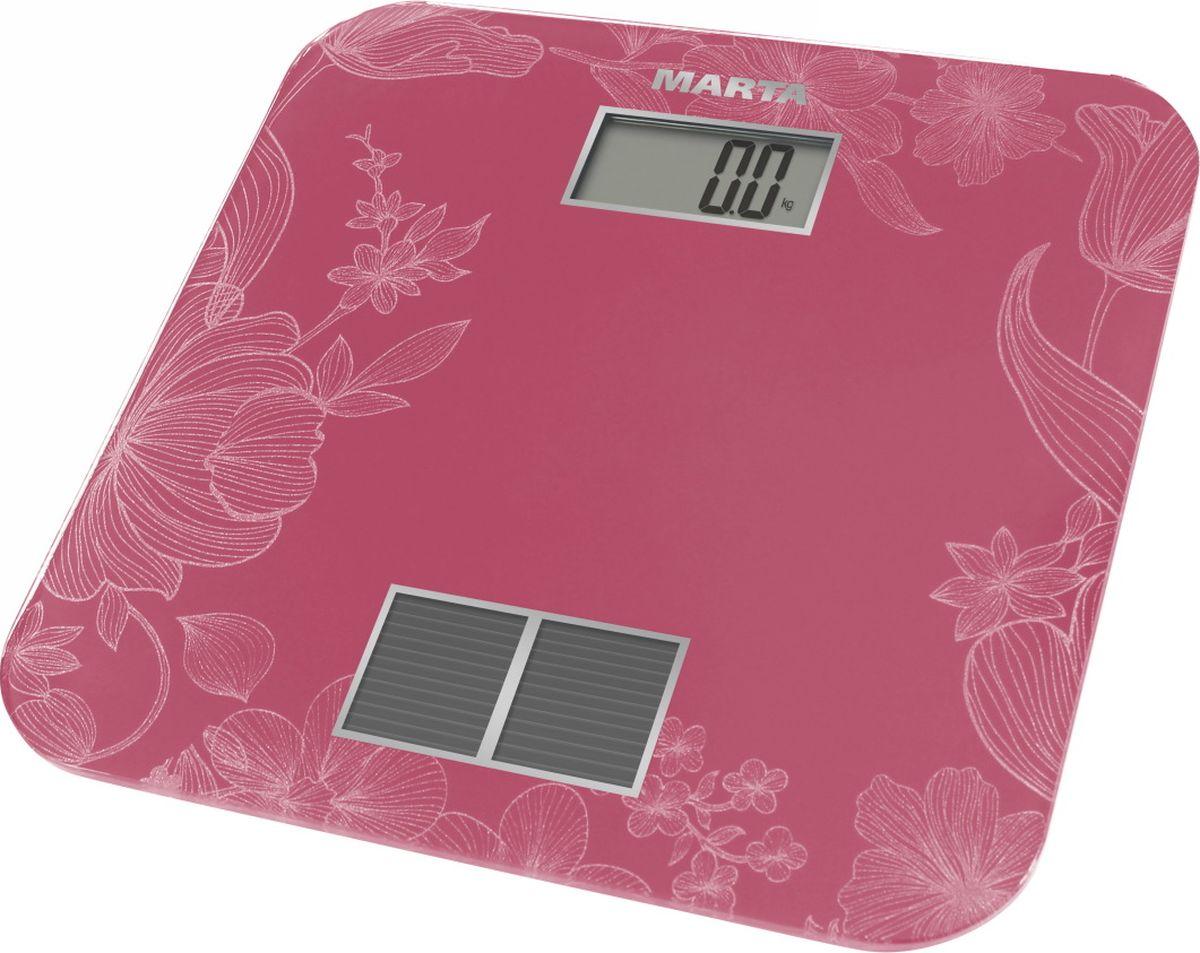 Marta MT-1663, Pink весы напольные - Напольные весы