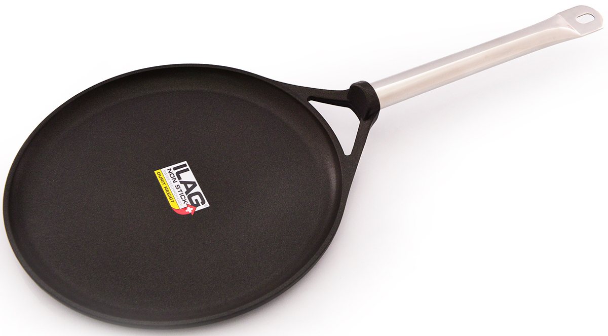 Сковорода блинная Fissman Pro, с антипригарным покрытием. Диаметр 28 см