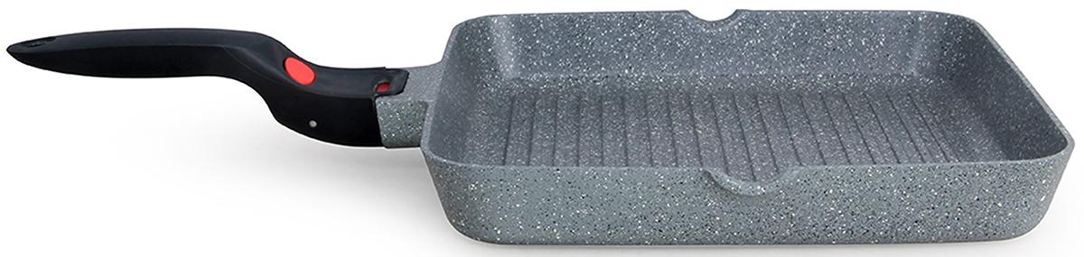 Сковорода-гриль Fissman La Granite, с антипригарным покрытием, со съемной ручкой, 28 х 28 смAL-4628.28