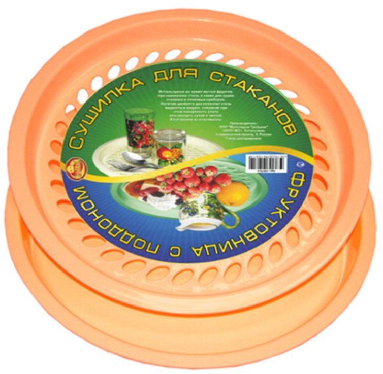 Фруктовница Мультидом, цвет: темно-бежевый, диаметр 28,5 см плодосъемники мультидом плодосборник диаметр 13 см