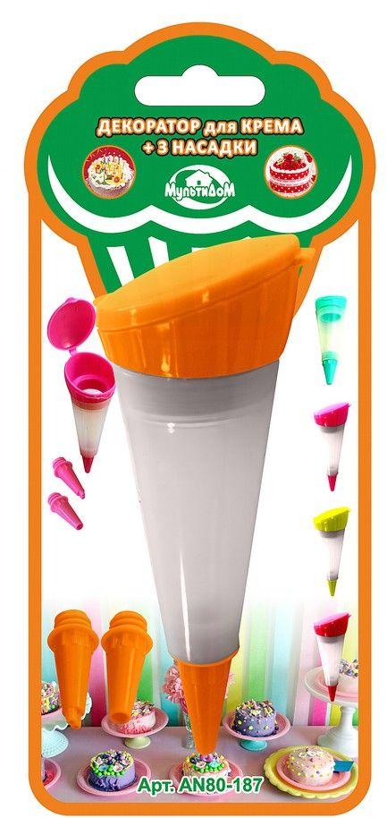 Шприц кондитерский Мультидом, цвет: оранжевыйAN80-187Декоратор предназначен для приготовления и декорирования выпечки, кондитерский изделий.Использование насадок различного размера позволит получить желаемую толщину выдавливаемого крема.В комплект входит емкость для крема и 3 насадки.После применения промыть с использованием жидких моющих средств.Не рекомендуется мыть с абразивными моющими средствами и металлическими губками.В процессе использования может исчезнуть яркость цвета, но это не влияет на качество изделия.Изготовлено из силикона, насадки из пластмассы (полипропилен). Объем 50 мл.