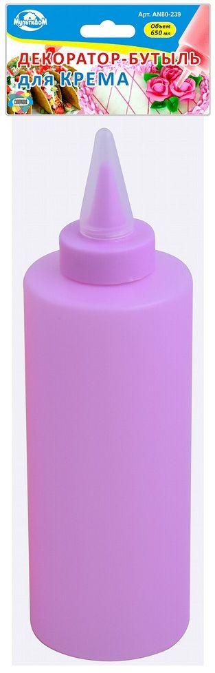 Шприц кондитерский Мультидом, цвет: розовыйAN80-239Декоратор-бутыль для крема - своеобразная волшебная палочка, которая поможет хозяйке сделать рисунок или надпись и украсить ими выпечку, десерты или тарелки. Каждый знает, что еда должно быть не только вкусной и полезной, но и красивой! Даже простую яичницу можно украсить и поднять настроение своим близким.С помощью этой бутылки можно приготовить ажурные блинчики или оладьи, смешав тесто прямо в ней - эта хитрость поможет Вам испачкать меньше посуды при приготовлении.Можете наполнить бутыль жидким соусом для заправки салатов и блюд и хранить ее в холодильнике с закрытым наконечником. Создавайте настоящие кулинарные шедевры используя такие простые и нужные аксессуары.После использования промойте в теплой проточной воде, можно с использованием жидких моющих средств.Объем 650 мл.Изготовлено из пластмассы (полиэтилен, полипропилен)