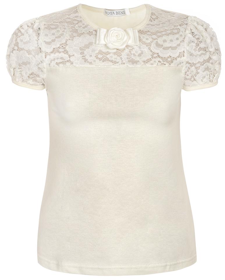 Блузка для девочки Nota Bene, цвет: молочный. CJR27050A17. Размер 122 цены онлайн