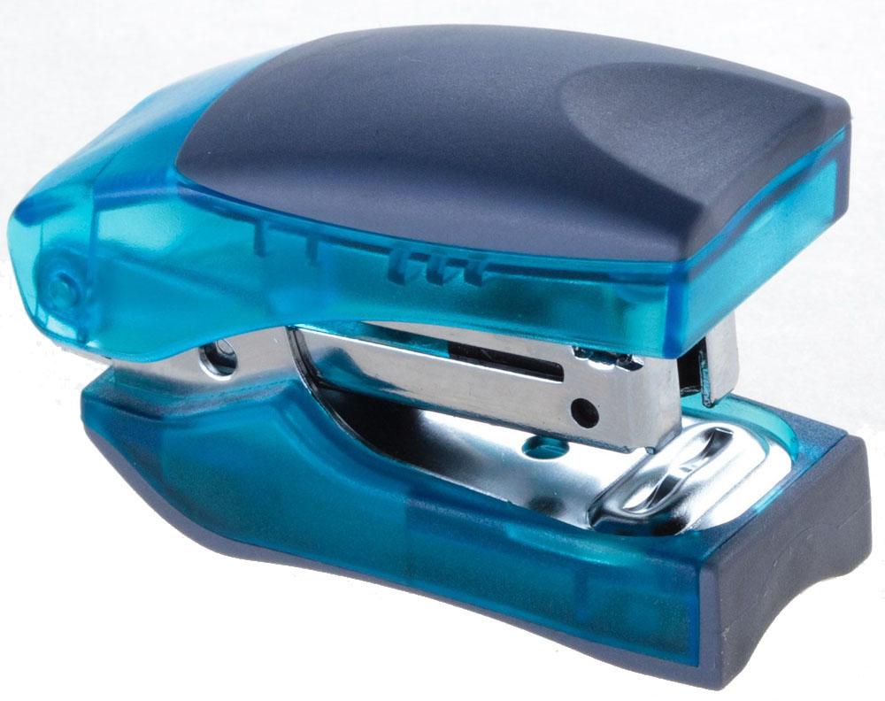 Office Force Stationery Степлер Stand Up Mini цвет синий прозрачный №1030010Степлер Office Force Stand Up Mini с эргономичным корпусом и и надежным механизмом.Глубина закладывания бумаги: до 26 мм. Толщина пробивания: до 10 листов бумаги плотностью 80 г/м. Тип и размер применяемых скоб: №10. Вместимость контейнера: до 50 скоб. Режим сшивания листов: закрытый.Материал: пластик, металл. Размер: 61 мм х 35 мм х 24 мм. Прорезиненный упор обеспечивает комфорт при работе. Наличие антистеплера. Компактные размеры позволяют экономить место на рабочем столе. Можно хранить вертикально и горизонтально.