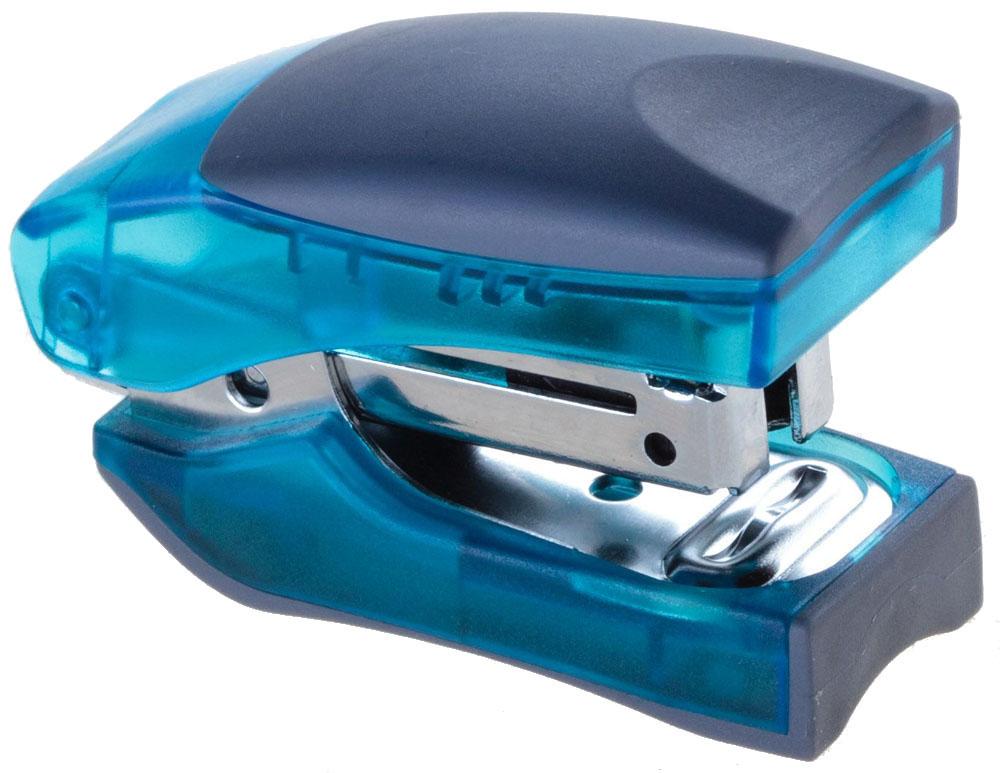 Office Force Stationery Степлер Stand Up цвет синий прозрачный №1030020Степлер Office Force Stand Up с эргономичным корпусом и и надежным механизмом.Глубина закладывания бумаги: до 58 мм. Толщина пробивания: до 10 листов бумаги плотностью 80 г/м. Тип и размер применяемых скоб: №10. Вместимость контейнера: до 100 скоб. Режим сшивания листов: закрытый/открытый. Возможность изменения режима сшивания.Материал: пластик, металл. Размер: 107 мм х 50 мм х 31 мм. Прорезиненный упор обеспечивает комфорт при работе. Наличие антистеплера. Компактные размеры позволяют экономить место на рабочем столе. Можно хранить вертикально и горизонтально.