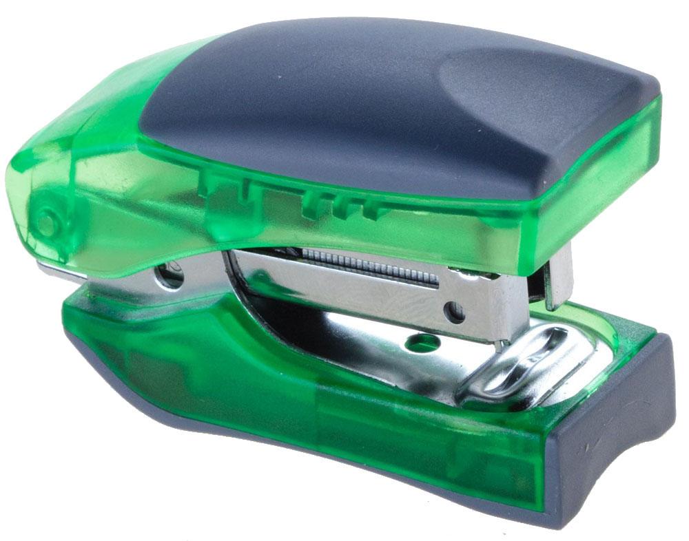 Office Force Stationery Степлер Stand Up цвет зеленый прозрачный №1030022Степлер Office Force Stand Up с эргономичным корпусом и и надежным механизмом.Глубина закладывания бумаги: до 58 мм. Толщина пробивания: до 10 листов бумаги плотностью 80 г/м. Тип и размер применяемых скоб: №10. Вместимость контейнера: до 100 скоб. Режим сшивания листов: закрытый/открытый. Возможность изменения режима сшивания.Материал: пластик, металл. Размер: 107 мм х 50 мм х 31 мм. Прорезиненный упор обеспечивает комфорт при работе. Наличие антистеплера. Компактные размеры позволяют экономить место на рабочем столе. Можно хранить вертикально и горизонтально.