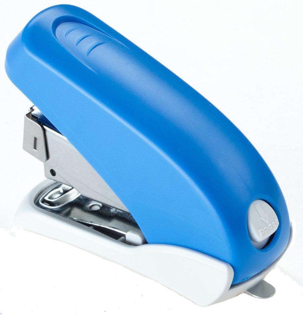 Office Force Stationery Степлер Power Saving Mini, цвет синий, до 16 листов30071Cтеплер Office Force Power Saving Mini с эргономичным корпусом и надежным механизмом. Компактные размеры позволяют экономить место на рабочем столе. Цвет - синий. Пробивает до 16 листов бумаги плотностью 80 г/м?. Тип и размер применяемых скоб - 24/6;26/6. Максимальная глубина закладки бумаги- 42 мм. Вместимость контейнера - до 50 скоб. Режим сшивания листов - закрытый. Материал - пластик, металл. Размер - 62х30х87 мм. Наличие антистеплера.