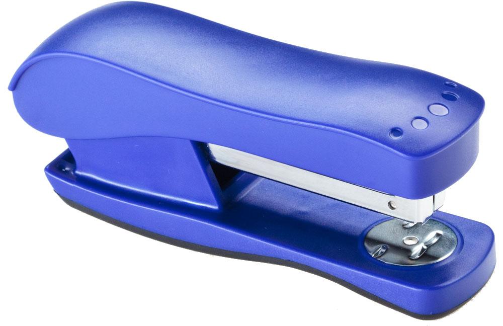 Office Force Stationery Степлер Wave 3015 цвет синий №24/6 26/630151Степлер Office Force Wave с эргономичным корпусом и системой экономии усилия. Глубина закладывания бумаги: до 80 мм.Толщина пробивания: до 20 листов бумаги плотностью 80 г/м.Тип и размер применяемых скоб: 24/6; 26/6.Вместимость контейнера: до 210 скоб.Режим сшивания листов: закрытый/открытый. Возможность изменения режима сшивания. Материал: пластик, металл.Размер: 163 мм х 54 мм х 40 мм.Антискользящее покрытие.