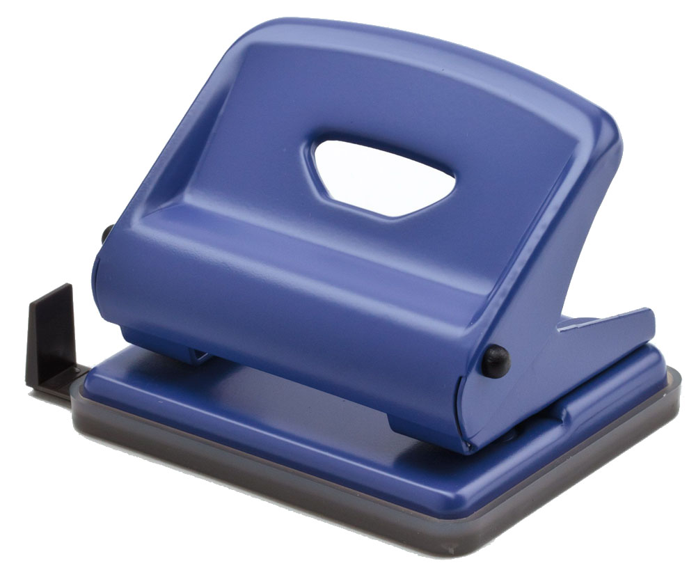 Office Force Stationery Дырокол Medium 25 листов 2 отверстия цвет синий35016Дырокол Office Force серии Medium с эргономичным упором оснащен форматной линейкой A4, A5, A6, 888. Корпус выполнен из металла. Толщина пробивания - до 25 листов, 80г/м2. Пробивает 2 отверстия, диаметром 6 мм. Расстояние между отверстиями 80 мм. Наличие специальных фиксаторов обеспечивает возможность хранения дырокола в сложенном виде. Нескользящая прорезиненная подошва, контейнер для сбора конфетти.