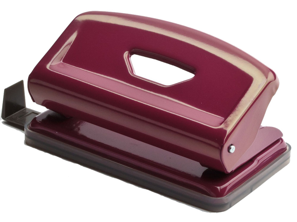 Office Force Stationery Дырокол Mini 10 листов 2 отверстия цвет пурпурный35210Дырокол Office Force серии Mini с эргономичным упором оснащен форматной линейкой A4, A5, A6, 888. Корпус выполнен из металла. Толщина пробивания - до 10 листов, 80г/м2. Пробивает 2 отверстия, диаметром 6 мм. Расстояние между отверстиями 80 мм. Наличие специальных фиксаторов обеспечивает возможность хранения дырокола в сложенном виде. Нескользящая прорезиненная подошва, контейнер для сбора конфетти.