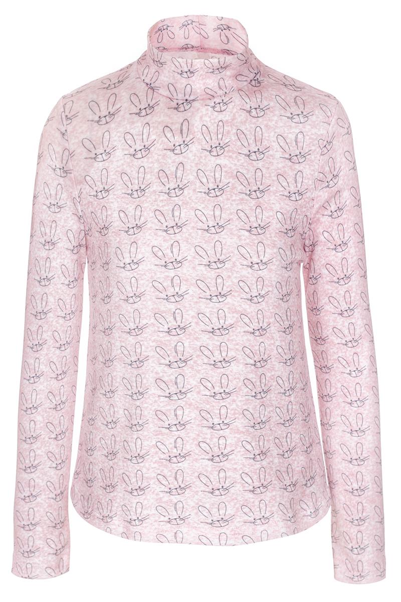 Водолазка для девочки M&D, цвет: светло-розовый. WJO27011M57. Размер 116WJO27011M57Водолазка выполнена из эластичного хлопка. Модель с длинными рукавами и воротником-стойкой.
