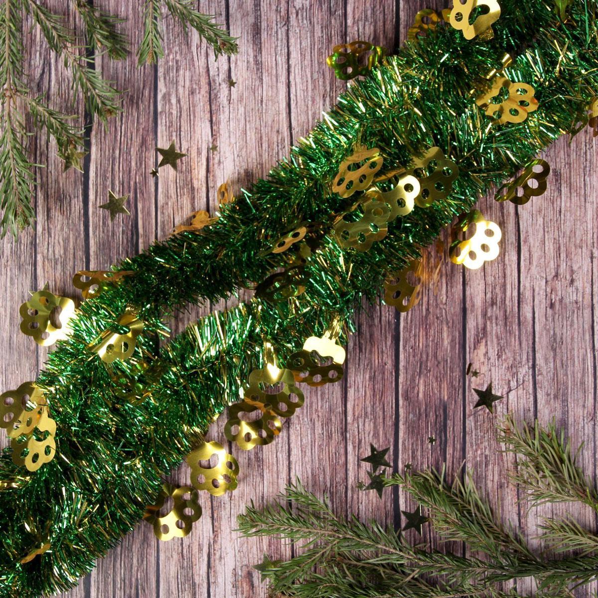 Мишура новогодняя Sima-land Лапка, цвет: зеленый, диаметр 5 см, длина 2 м. 23176462317646Невозможно представить нашу жизнь без праздников! Мы всегда ждем их и предвкушаем, обдумываем, как проведем памятный день, тщательно выбираем подарки и аксессуары, ведь именно они создают и поддерживают торжественный настрой.