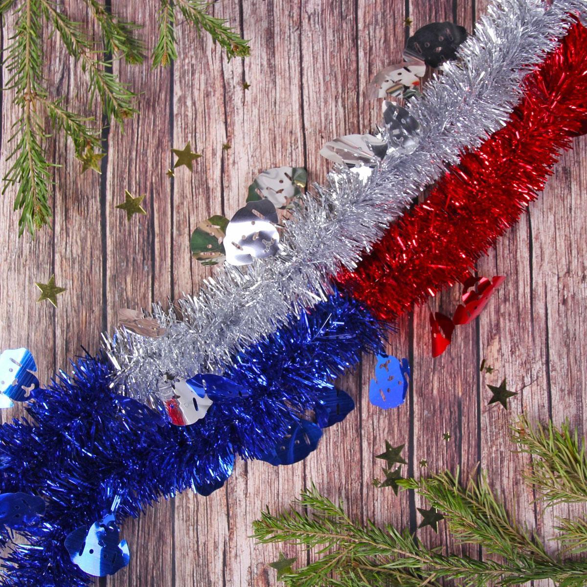 Мишура новогодняя Sima-land Собачка, цвет: белый, диаметр 5 см, длина 2 м. 23176472317647Мишура новогодняя Sima-land, выполненная из фольги с фигурками, поможет вам украсить свой дом к предстоящим праздникам.Новогодней мишурой можно украсить все, что угодно - елку, квартиру, дачу, офис -как внутри, так и снаружи. Можно сложить новогодние поздравления, буквы ицифры, мишурой можно украсить и дополнить гирлянды, можновыделить дверные колонны, оплести дверные проемы.Мишура принесет в ваш дом ни с чем несравнимое ощущение праздника! Создайтев своем доме атмосферу тепла, веселья и радости, украшая его всей семьей.