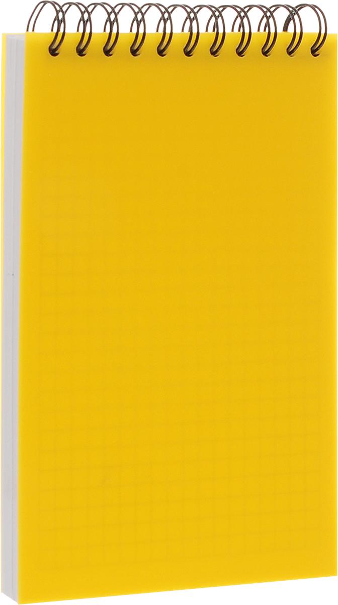Brauberg Блокнот Title 80 листов в клетку цвет желтый125407_желтыйБлокнот Brauberg на металлическом гребне в пластиковой обложке, обеспечивающей дополнительную защиту внутреннего блока от деформации.Внутренний блок состоит из высококачественного офсета в клетку.