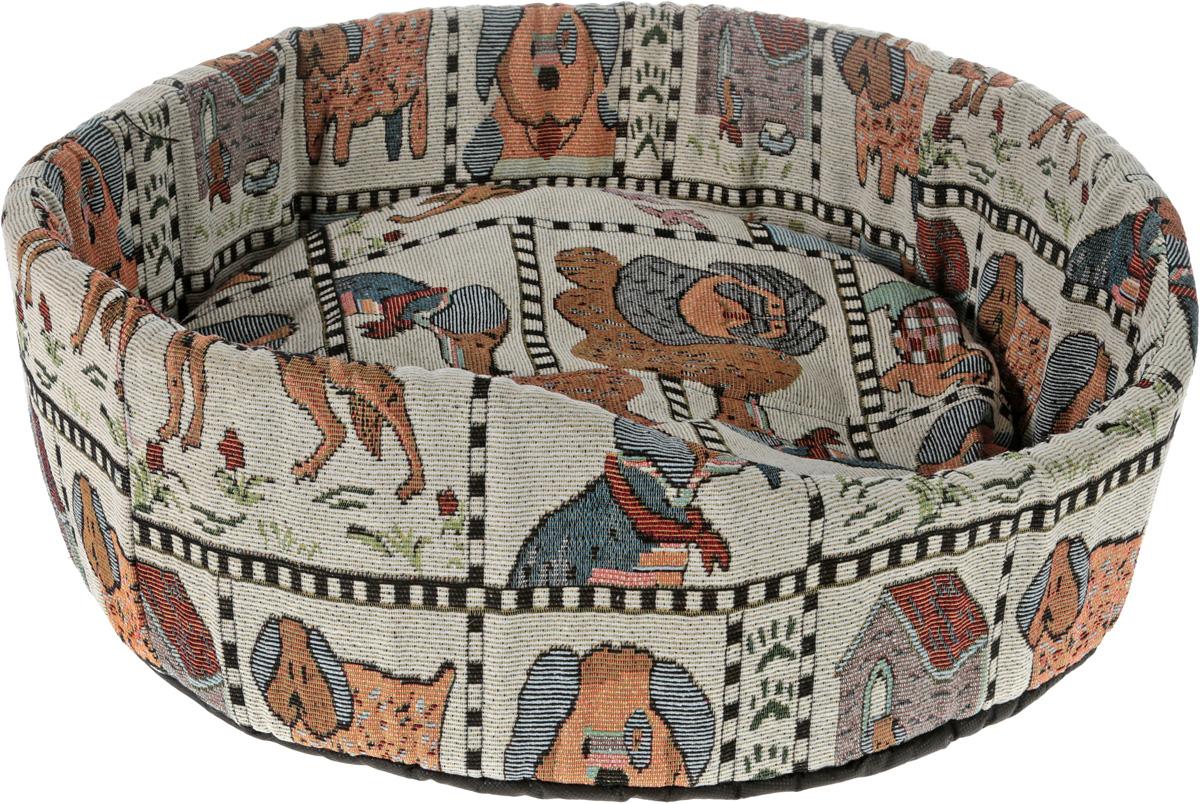 Лежак для собак GLG Ринго М, цвет: бежевый, 54 х 54 х 18 смL006/C_бежевыйМягкий лежак GLG Ринго М обязательно понравится вашему питомцу. Он выполнен из качественного текстиля с цветочным рисунком и дополнен наполнителем из поролона. Материал не теряет своей формы долгое время.Лежак оснащен мягкой съемной подстилкой, которую можно снять и постирать. Высокие бортики обеспечат вашему любимцу уют. Мягкий лежак станет излюбленным местом вашего питомца, подарит ему спокойный и комфортный сон, а также убережет вашу мебель от шерсти.