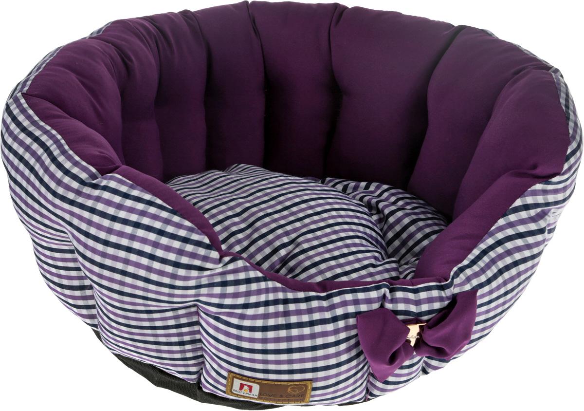 Лежак для собак и кошек Зоогурман Каприз, цвет: фиолетовый, белый, диаметр 45 см2168_фиолетовыйМягкий и уютный лежак для кошек и собак Зоогурман Каприз обязательно понравится вашему питомцу. Лежак выполнен из нежного, приятного материала. Внутри - мягкий наполнитель, который не теряет своей формы долгое время.Внутри лежака теплый, съемный матрасик. Высокие борта лежака обеспечат вашему любимцу уют и комфорт. За изделием легко ухаживать, можно стирать вручную или в стиральной машине при температуре 40°С. Материал: микроволоконная шерстяная ткань.Наполнитель: гипоаллергенное синтетическое волокно. Наполнитель матрасика: шерсть.Диаметр: 45 см.Внутренний диаметр: 33 см.Высота бортиков: 18 см.Уважаемые покупатели! Обращаем ваше внимание, что дизайн декоративного элемента (бантика) может отличатся от представленного на фото.