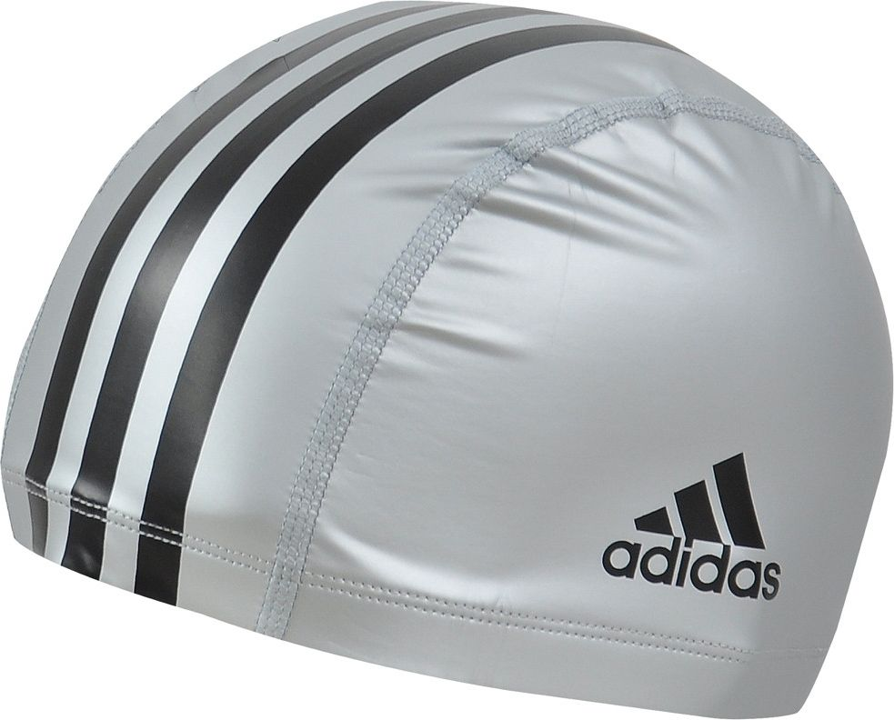 Шапочка для плавания Adidas PU CT CP 1PC, цвет: серыйF80779Классическая шапочка Adidas PU CT CP 1PC плотно облегает голову, обеспечивая комфортную и надежную посадку. Шапочка выполнена из 95% терилена (полиэфирное волокно) и 5% эластана. Водоотталкивающее покрытие сохраняет волосы сухими, а специальный состав материала снижает риск их повреждения.Приятный стрейчевый материал снижает риск повреждения волос.Водоотталкивающее покрытие помогает сохранить волосы сухими.Принт с тремя полосками.Логотип Adidas с обеих сторон.