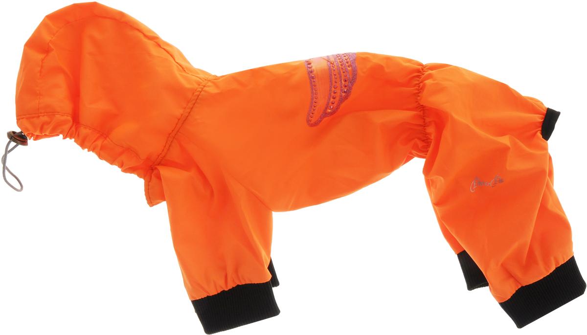Дождевик прогулочный для собак Pret-a-Pet Крылья, цвет: оранжевый. Размер MMOS-016-colors-M_оранжевыйПрогулочный дождевик с капюшоном для собаквыполнен из высококачественного полиэстера. Рукава с мягкими манжетами не ограничивают свободу движений, и собачка будет чувствовать себя в ней комфортно. Изделие застегивается с помощью кнопок. Изделие оформлено декоративной аппликацией.Модный и невероятно удобный непромокаемый дождевик защитит вашего питомца от дождя.