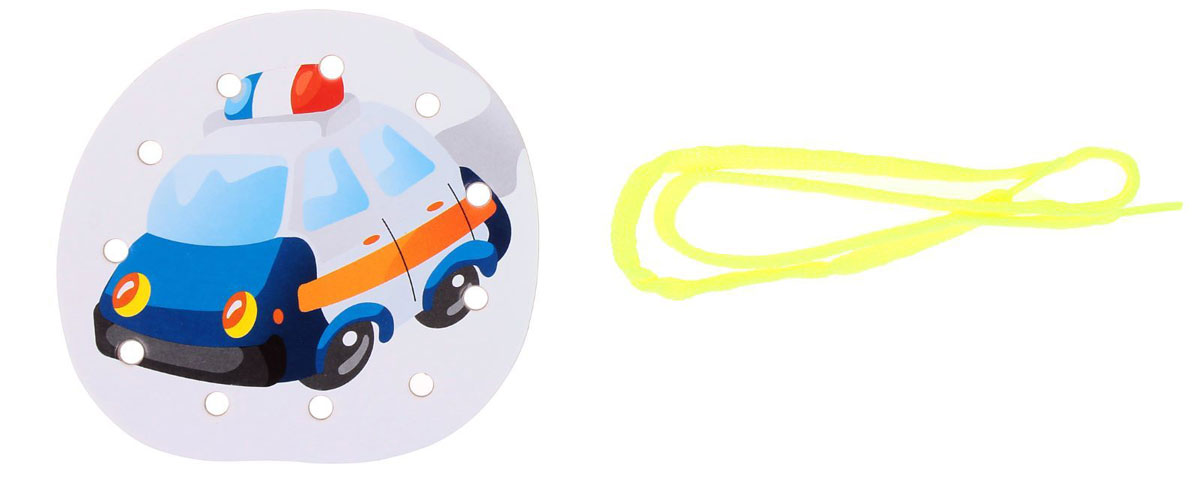 Ракета Шнуровка-раскраска Машина полиция