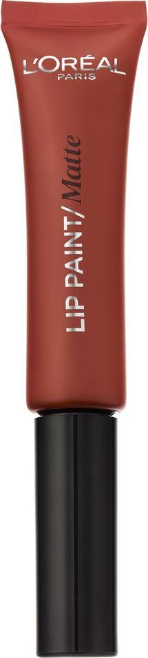 LOreal Paris Краска для губ Infaillible Lip Paint, жидкая помада, матовая, оттенок 213, Пряный шоколад, 8 млA9300900Устойчивая краска для губ Инфаибль «Lip Paint» придает глубокий сочный цвет, полностью перекрывающий природный оттенок губ. Благодаря специальному аппликатору помада хорошо ложится, создавая идеально ровное покрытие.Оттенок 213 Пряный шоколад – теплый и насыщенный. Кирпичный подтон делает его одним из самых ярких в модной кофейной палитре.