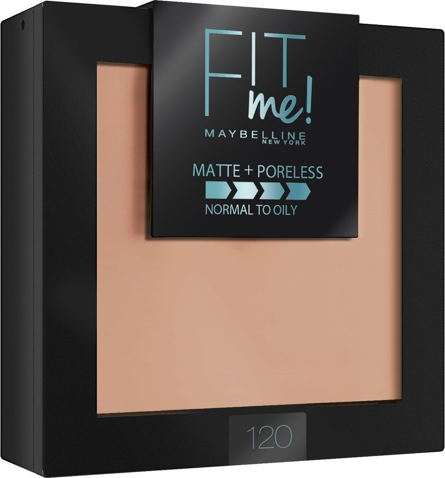 Maybelline New York Пудра для лица Fit Me, матирующая, скрывающая поры, оттенок 120, Класический бежевый, 9 г novelty women men winter warm black full face cover three holes mask beanie hat cap fashion accessory unisex free shipping