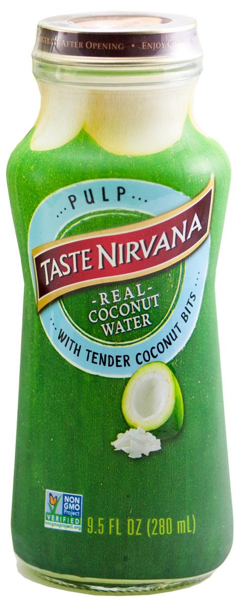 Taste nirvana Real Coconut Water напиток с мякотью, 0,28 лСМ100280Натуральная кокосовая вода с мякотью Real Coconut Water Pulp Nirvana Foods является натуральным естественным продуктом. Для изготовления кокосовой воды* используются лучшие молодые кокосы, чтобы подарить полюбившийся всем вкус.Знаменитая дельта Мае Клонг снабжает семейную плантацию Taste Nirvana большим количеством воды. Благодаря идеальному сочетанию речной и морской воды, кокосы на этой плантации чуть-чуть больше и слаще, чем в других регионах Таиланда. Они зреют в первозданных условиях, без ГМО и химии. Каждый день здесь выбираются лучшие кокосы, сок которых бережно сохраняется в этих небольших бутылочках. Утоляйте жажду свежестью натуральной кокосовой воды, а не искусственным вкусом других напитков.