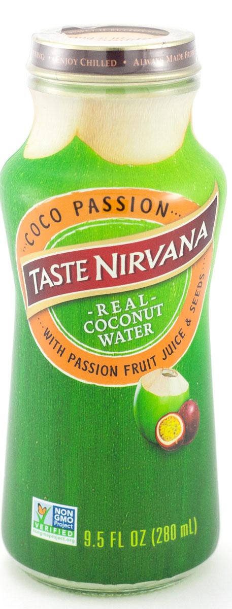 Taste nirvana Real Coconut Water напиток с маракуйей, 0,28 лММ100280Натуральная кокосовая вода с мякотью Real Coconut Water Pulp Nirvana Foods является натуральным естественным продуктом. Для изготовления кокосовой воды* используются лучшие молодые кокосы, чтобы подарить полюбившийся всем вкус.Знаменитая дельта Мае Клонг снабжает семейную плантацию Taste Nirvana большим количеством воды. Благодаря идеальному сочетанию речной и морской воды, кокосы на этой плантации чуть-чуть больше и слаще, чем в других регионах Таиланда. Они зреют в первозданных условиях, без ГМО и химии. Каждый день здесь выбираются лучшие кокосы, сок которых бережно сохраняется в этих небольших бутылочках. Утоляйте жажду свежестью натуральной кокосовой воды, а не искусственным вкусом других напитков.