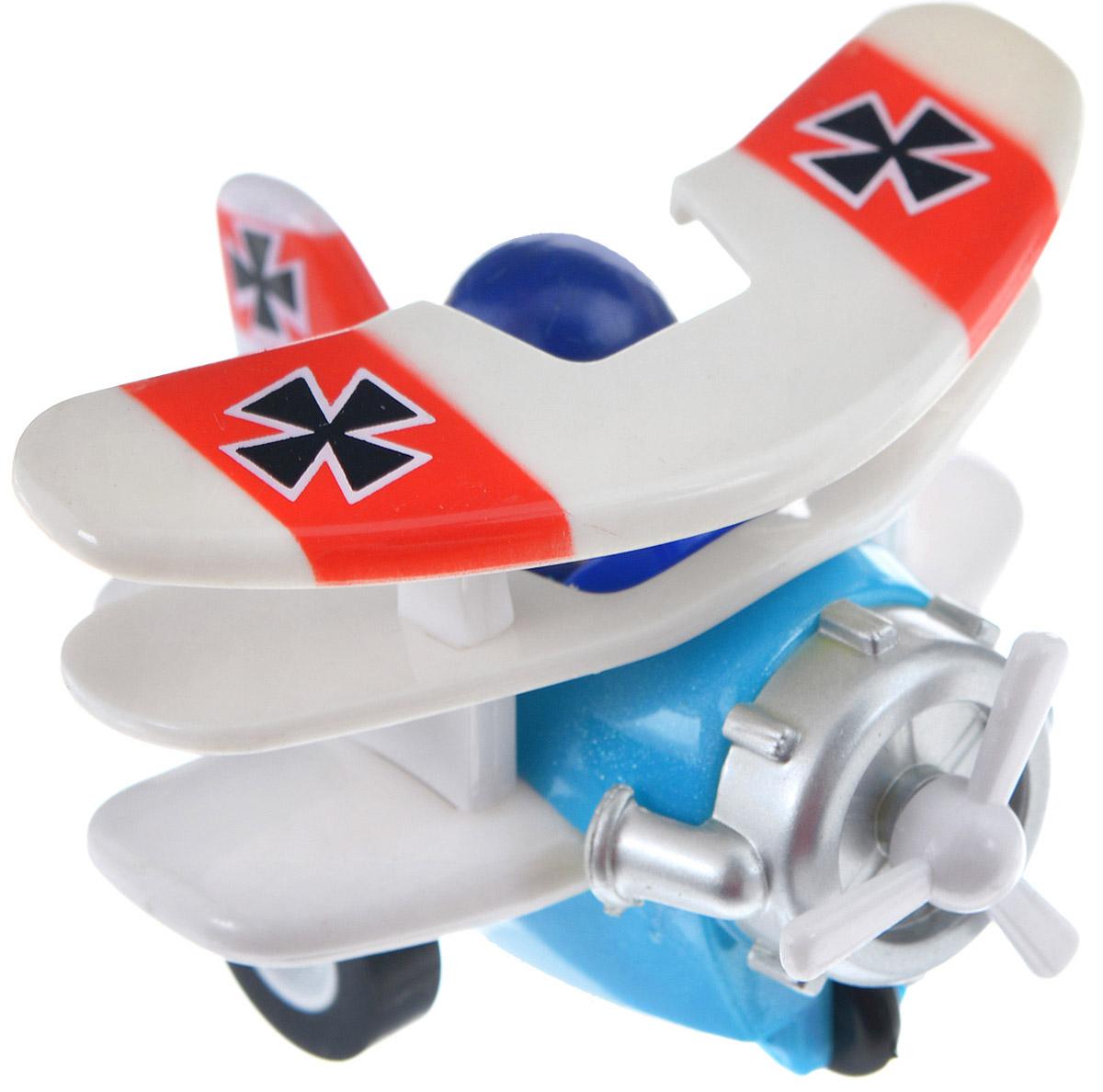 Hans Самолет инерционный цвет белый голубой инерционный самолет джером супер крылья
