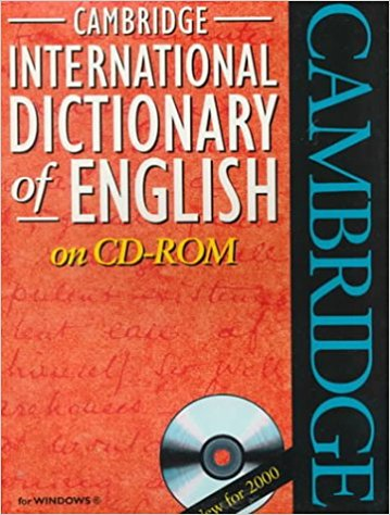 Cambridge International Dictionary of English CDROM cambridge learner s dictionary english russian cd rom