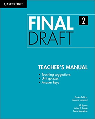 Final Draft Level 2 Teacher's Manual