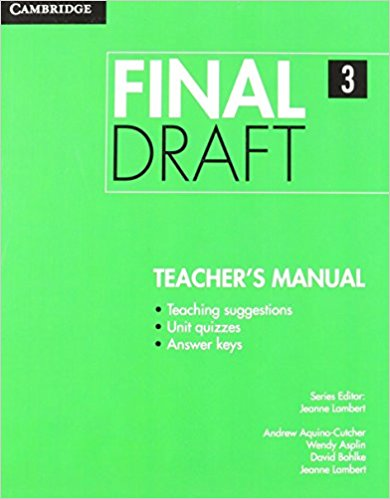 Final Draft Level 3 Teacher's Manual
