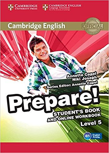 Cambridge English Prepare! 5 Student's Book with Online Workbook teaching basic general english through online distance methodology
