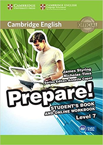 Cambridge English Prepare! 7 Student's Book with Online Workbook teaching basic general english through online distance methodology