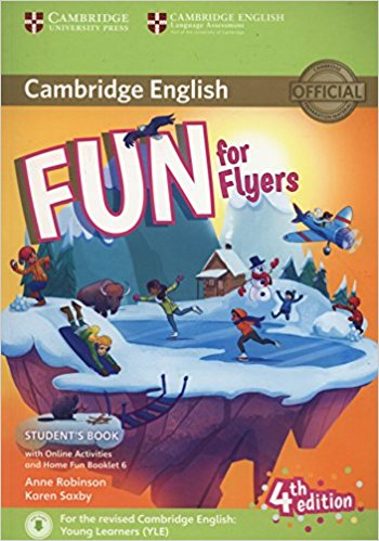 Cambridge English: Fun for Flyers: Student's Book with Online Activities, with Home Fun Booklet night club blue led rg laser stage lighting home party 200mw professional projector illumination dj light disco with ir remote