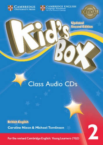Kid's Box: Level 2 (Class Audio 4 CDs) young learners english practice tests flyers dvd rom