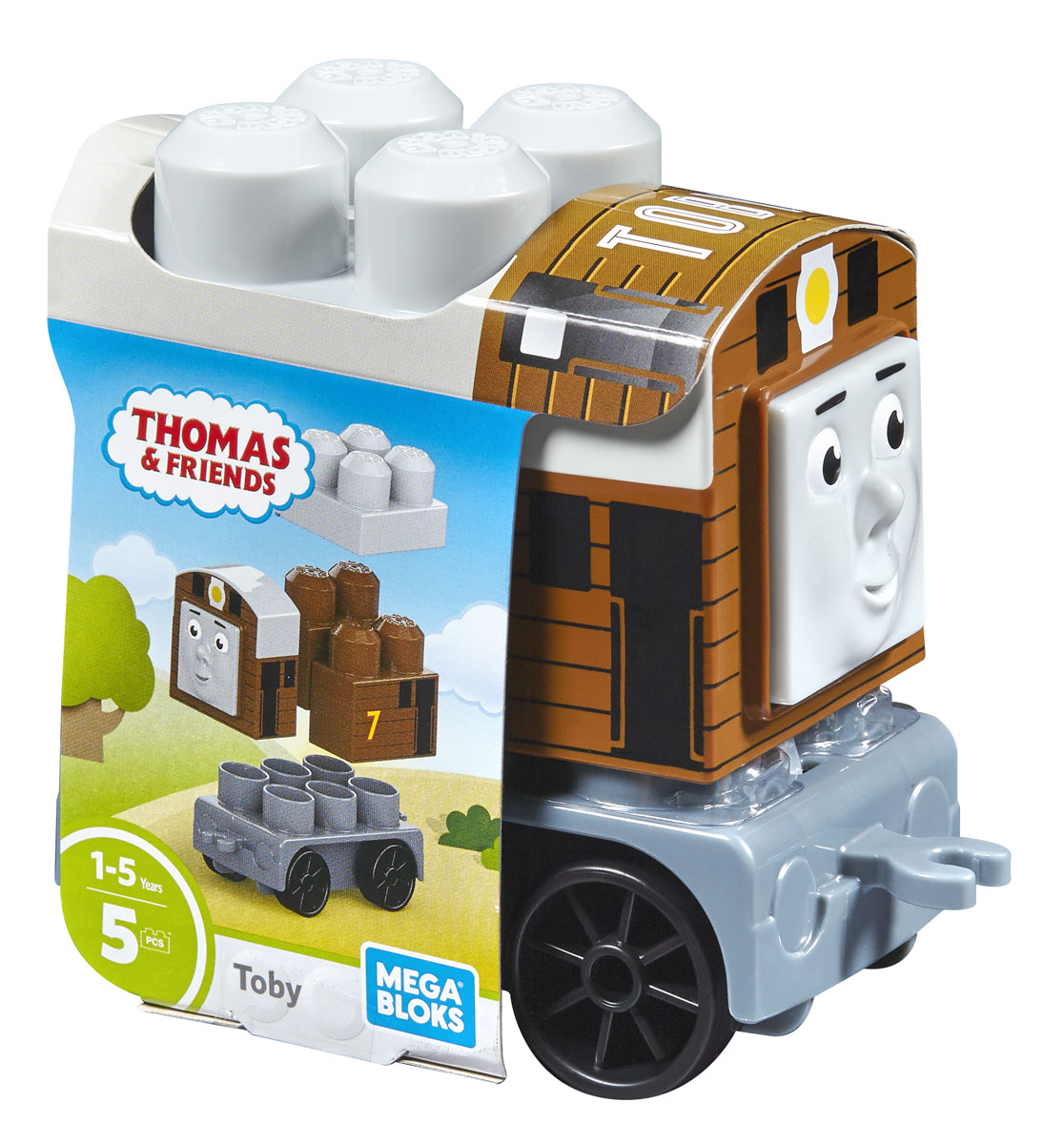 Mega Bloks Thomas & Friends Конструктор Паровозик Тоби конструкторы mega bloks томас и друзья томас и гарольд