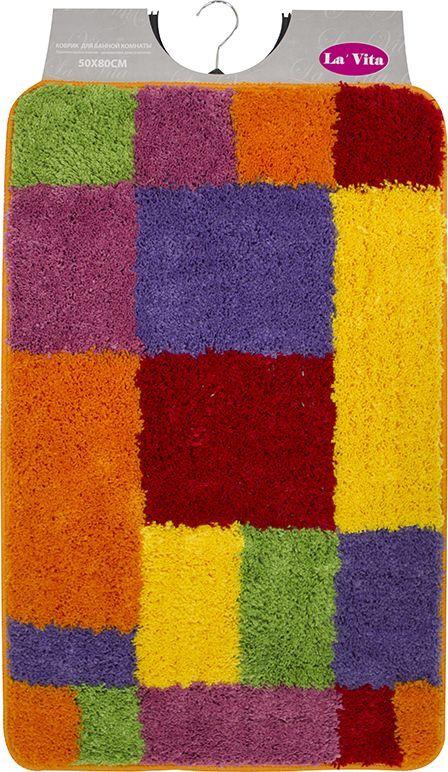Коврик для ванной комнаты Dasch Дороти, цвет: мультиколор, 50 х 80 см коврик круглый для ванной dasch авангард