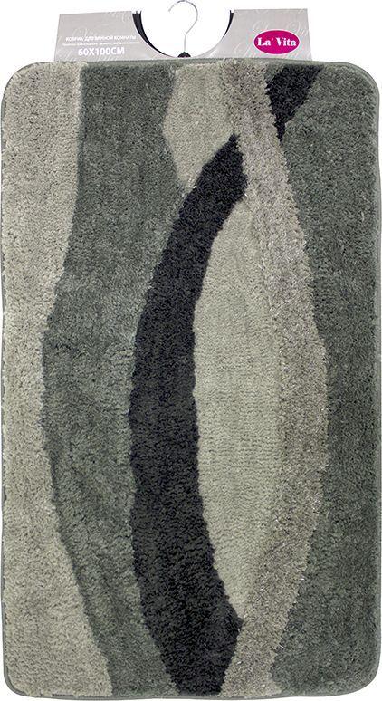 Коврик для ванной комнаты Dasch Альбина, цвет: серый, 60 х 100 см коврик для ванной dasch джулия