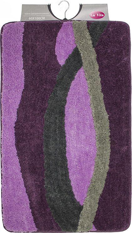 Коврик для ванной Dasch Альбина, цвет: фиолетовый, лиловый, 60 х 100 см коврик для ванной dasch джулия
