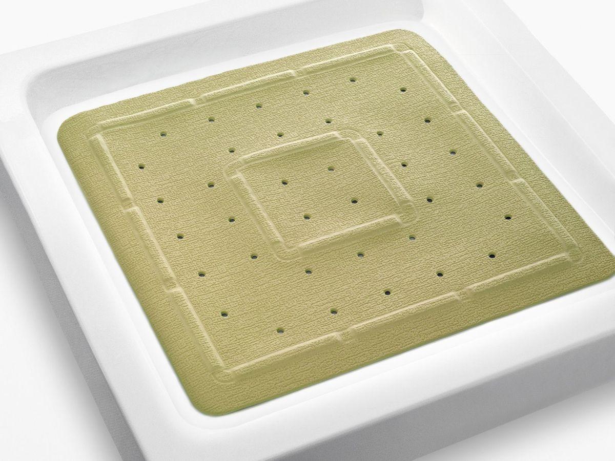 Коврик в душевую кабину Bacchetta, цвет: бежевый, 55 х 55 см4819Практичный коврик на присосках для ванной. Коврик выполнен из высококачественного вспененного ПВХ, поэтому изделие обладает мягкостью и эластичностью. Коврик подходит для всех типов ванн и душевых кабин, он хорошо фиксируется на поверхности за счет вакуумных присосок. Предназначен для использования в ванной или душевой кабине в гигиенических целях и для обеспечения безопасности. Коврик предотвращает возможность травм при падении на скользкой поверхности.