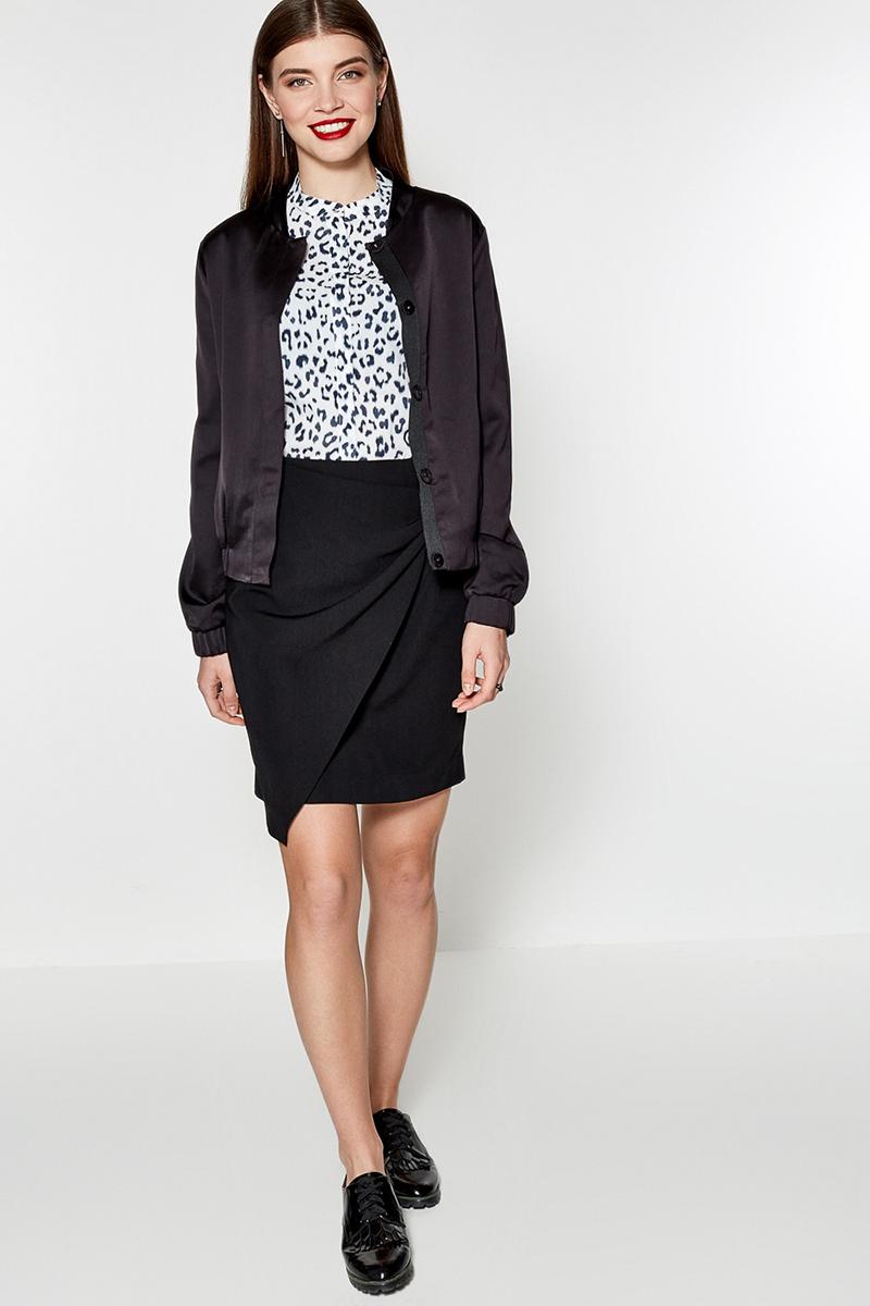 Блузка женская Concept Club Moss, цвет: белый, черный. 10200260160. Размер S (44)
