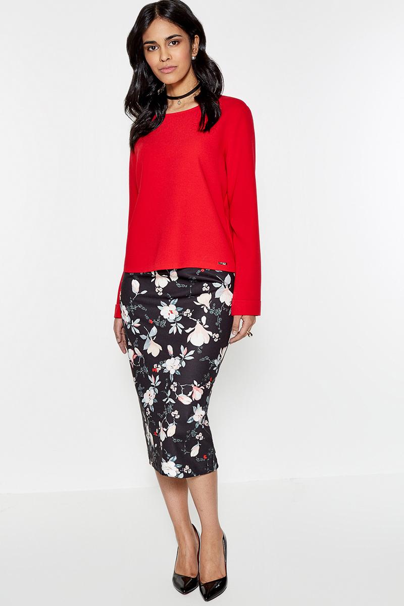 Блузка женская Concept Club Softi, цвет: красный. 10200260156. Размер M (46) юбка concept club vanya цвет черный 10200180223 100 размер m 46