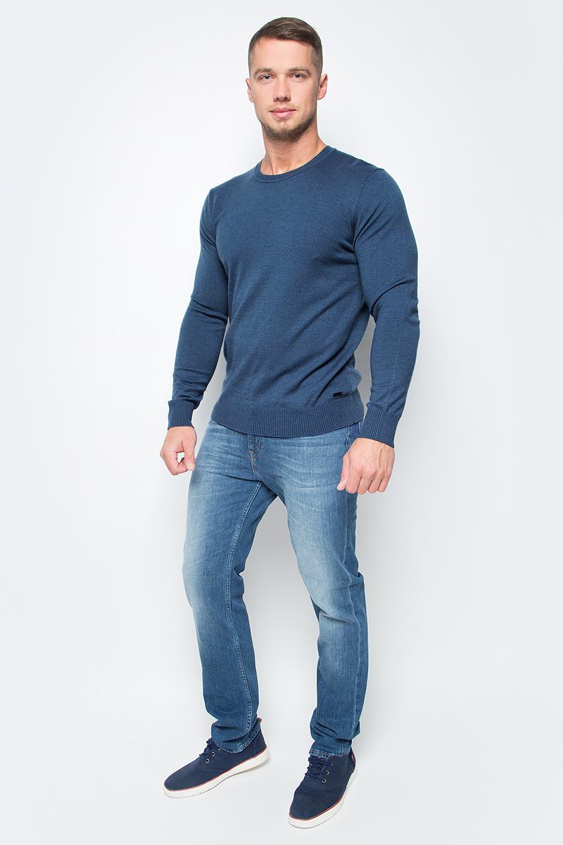 Джемпер мужской Baon, цвет: синий. B637702_Cosmic Dust Melange. Размер XXL (54) водолазка мужская baon цвет синий b727502 baltic blue melange размер xxl 54