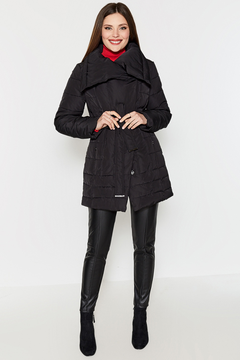 Леггинсы женские Concept Club Dion, цвет: черный. 10200160229. Размер S (44)10200160229Леггинсы от Concept Club выполнены из плотного трикотажа с кожаным эффектом. Модель с резинкой на талии и декоративными швами спереди.