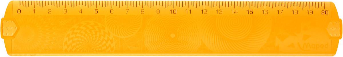 Maped Линейка Geocustom цвет оранжевый 20 см