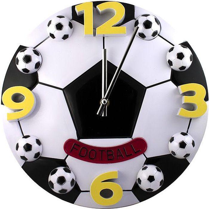 Часы настенные Эврика Футбол, 30 х 30 х 3 см96866. Часы с футбольной тематикой - правильный подарок для болельщиков самого популярного вида спорта. Циферблат и часовые деления выполнены в виде футбольных мячиков. Крупные яркие цифры видно даже на большом расстоянии, а надпись на красном ярлычке «FOOTBALL» не оставляет никаких сомнений – эти часы прославляют ту самую, легендарную игру. Материал: пластик. Упаковка: цветной картон. Bec 0,496 кг. Размер в упаковке: 31 х 31 х 3 см.